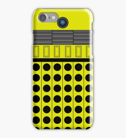 Not a robot. Yellow. Inspired by Daleks. iPhone Case/Skin