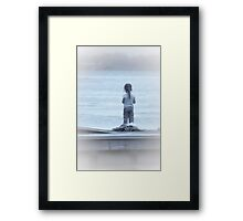 Patiently Waiting For The Big Catch Framed Print