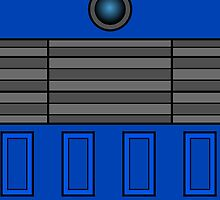 Not a robot. Blue. Inspired by Daleks. by Lenka24