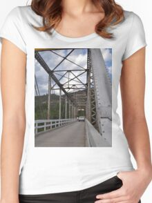 Gold Country Bridge Women's Fitted Scoop T-Shirt