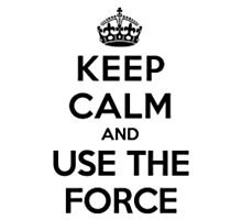 Keep Calm And Use The Force Photographic Print