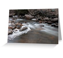 Wild river running Greeting Card