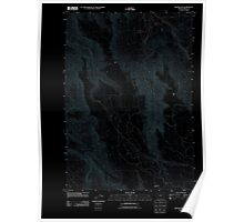 USGS Topo Map Oregon Miller Flat 20110908 TM Inverted Poster
