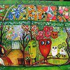 The Owls Garden by Redlady
