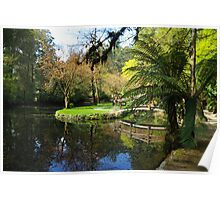 Serene garden, Dandenongs Victoria Poster