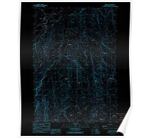 USGS Topo Map Oregon Harper 280150 1990 24000 Inverted Poster