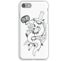 Poor Mr. Snake BW iPhone Case/Skin