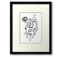Poor Mr. Snake BW Framed Print