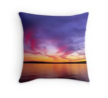 Madeline Island Sunset Throw Pillow
