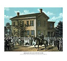 Abraham Lincoln's Return Home Photographic Print