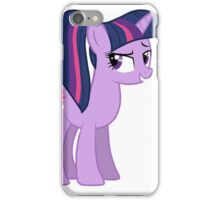 Twillight wit a ponytale iPhone Case/Skin