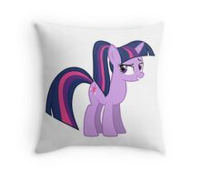 Twillight wit a ponytale Throw Pillow
