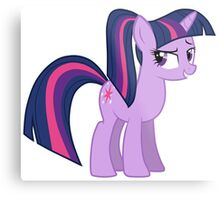 Twillight wit a ponytale Metal Print