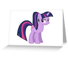 Twillight wit a ponytale Greeting Card