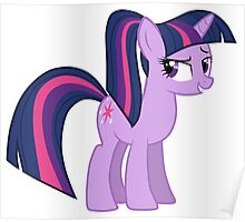 Twillight wit a ponytale Poster