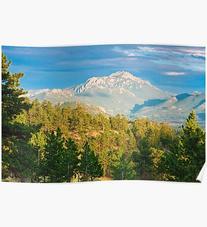 Rocky Mountain Alpenglow Poster