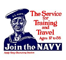 Join The Navy -- WWI Photographic Print