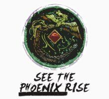 """See the Phoenix Rise"" Phoenix Mirror Baby Tee"