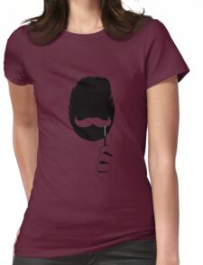 groucho mustache Womens Fitted T-Shirt