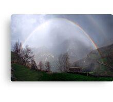 Compressed rainbow Canvas Print