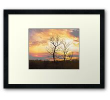 Sunset On The Prairie Framed Print