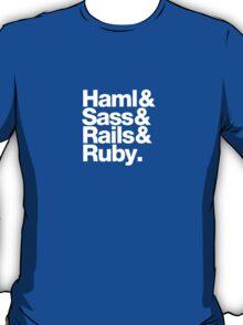 Haml & Sass & Rails & Ruby. T-Shirt