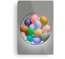 The Easter Bunny's Cache Metal Print