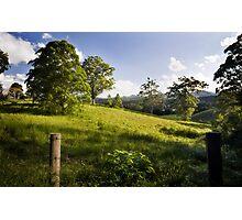 Rolling hills of Bellingen Photographic Print