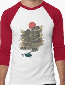 There's Chocolate in Those Mountains Men's Baseball ¾ T-Shirt