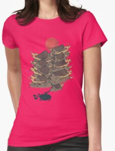There's Chocolate in Those Mountains Womens Fitted T-Shirt