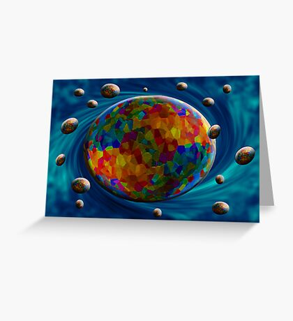Universe in motion Greeting Card