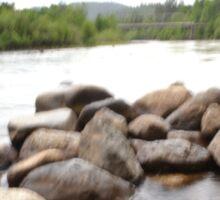 long exposure river Sticker