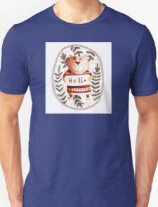 Cute cat who say Hello Unisex T-Shirt