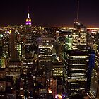 NYC Nightscape by TeaCee