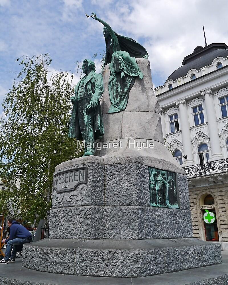 Preseren Monument, Ljubljana, Slovenia by Margaret  Hyde
