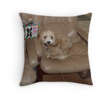 Buddy With His Book Of The Week Throw Pillow