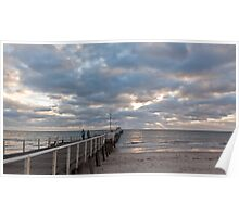 Henley Beach as the sun sets Poster