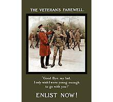 A Veteran's Farewell -- WWI Photographic Print