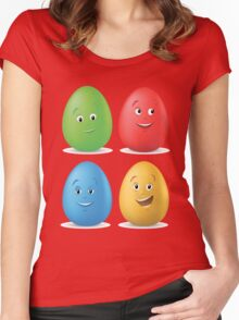 funny easter egg Women's Fitted Scoop T-Shirt