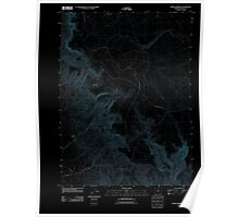 USGS Topo Map Oregon Hoppin Springs 20110824 TM Inverted Poster