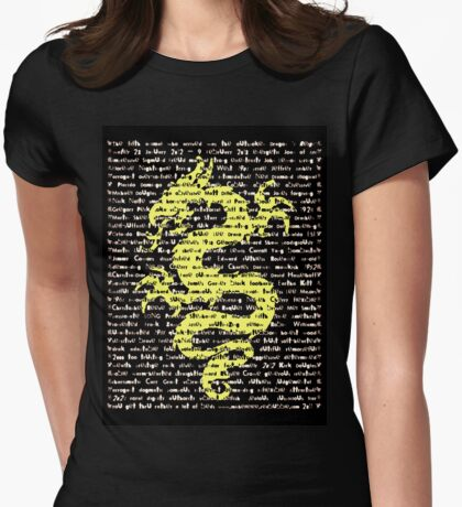 """The Year Of The Dragon"" Clothing Womens Fitted T-Shirt"