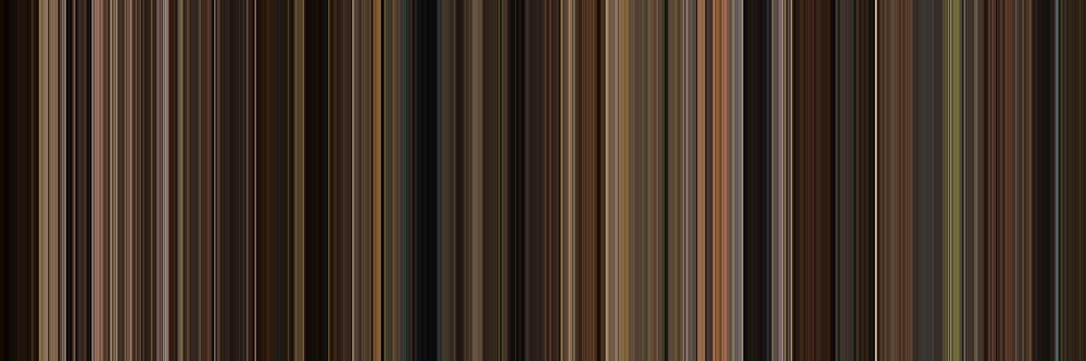 Moviebarcode: The Godfather (1972) [Simplified Colors] by moviebarcode