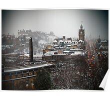 Wintry Edinburgh Poster