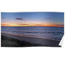 Sunset, Glenelg Beach, South Australia Poster