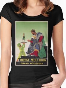 Leonetto Cappiello Affiche Royal Melchior Women's Fitted Scoop T-Shirt