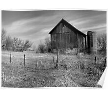 The Old Weathered Barn Poster