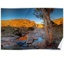 Australian Sunrise - Mannum Falls, Murray Valley, SA Poster