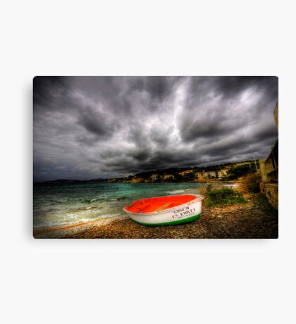 Little Row Boat Canvas Print