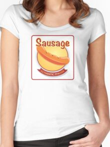 Italian Sausage Women's Fitted Scoop T-Shirt