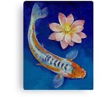 Koi Fish and Lotus Canvas Print